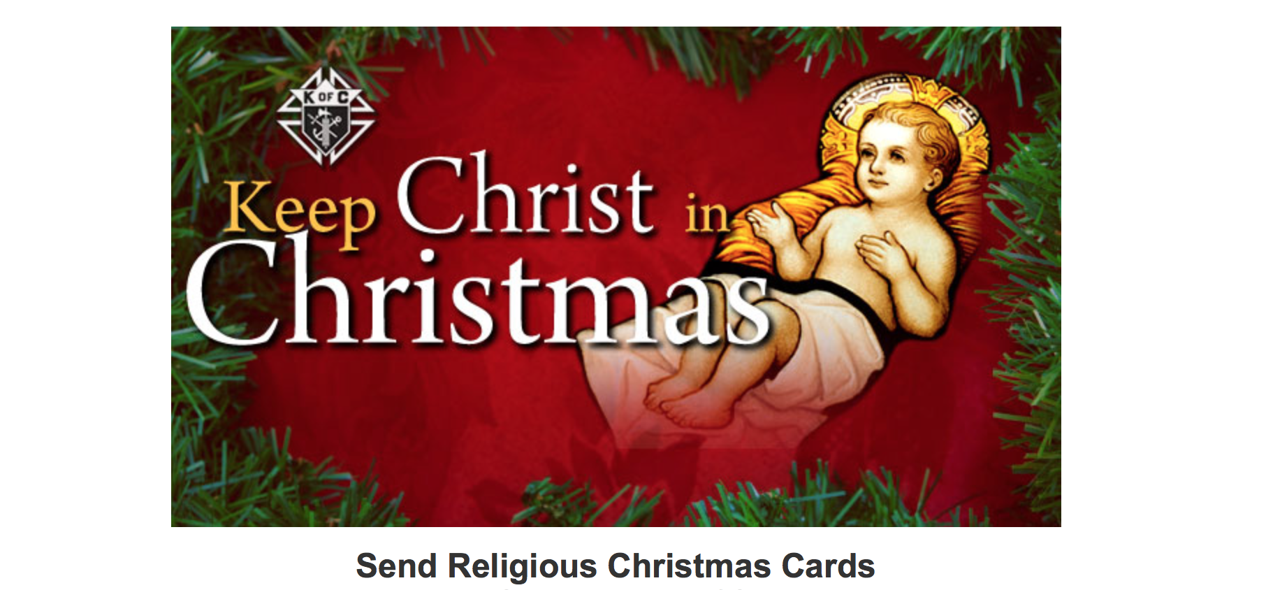 Keep Christ in Christmas Religious Cards | Resurrection Council #11341