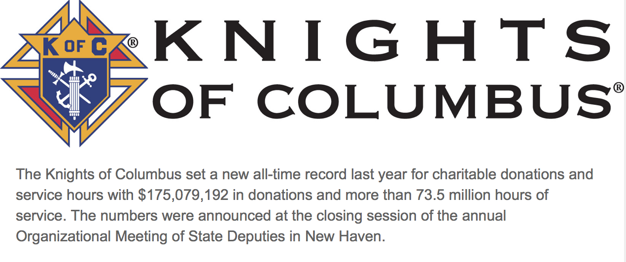 FOR THE 17TH YEAR, KNIGHTS' CHARITABLE GIVING AND VOLUNTEER HOURS GROW
