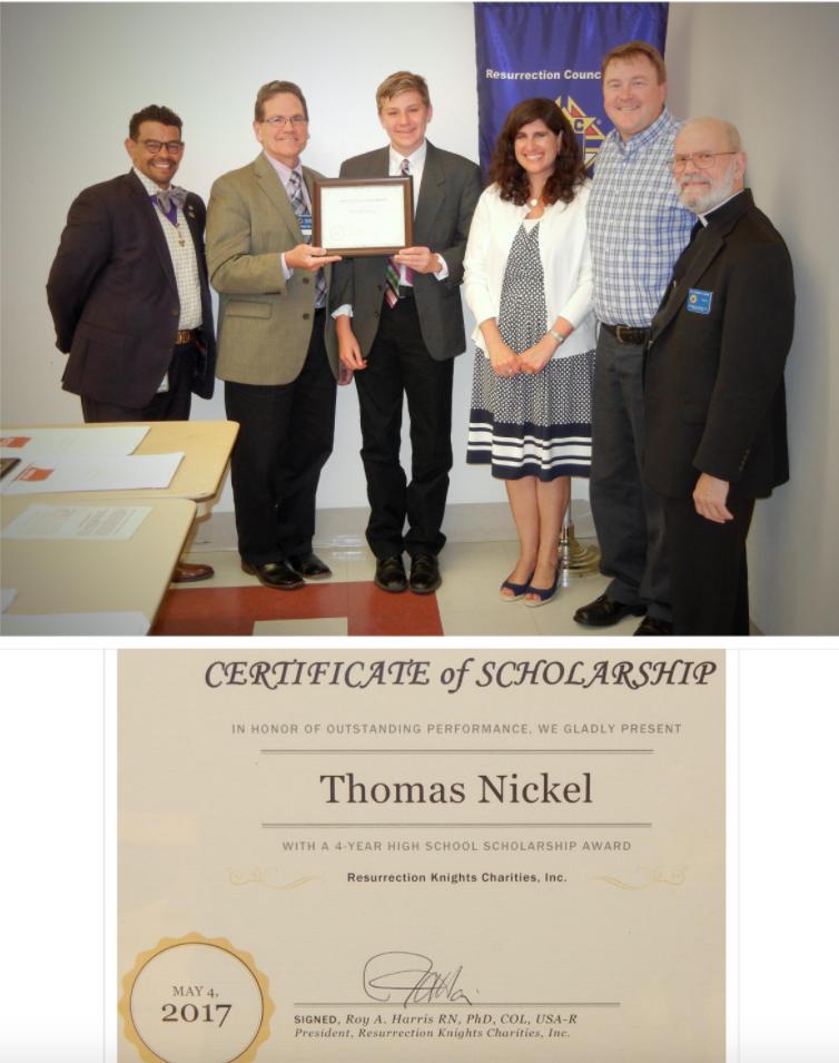 Thomas Nickel Scholarship Ceremony