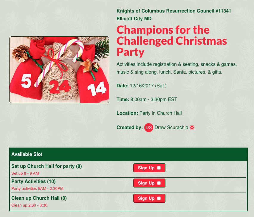 Champions for the Challenged Christmas Party